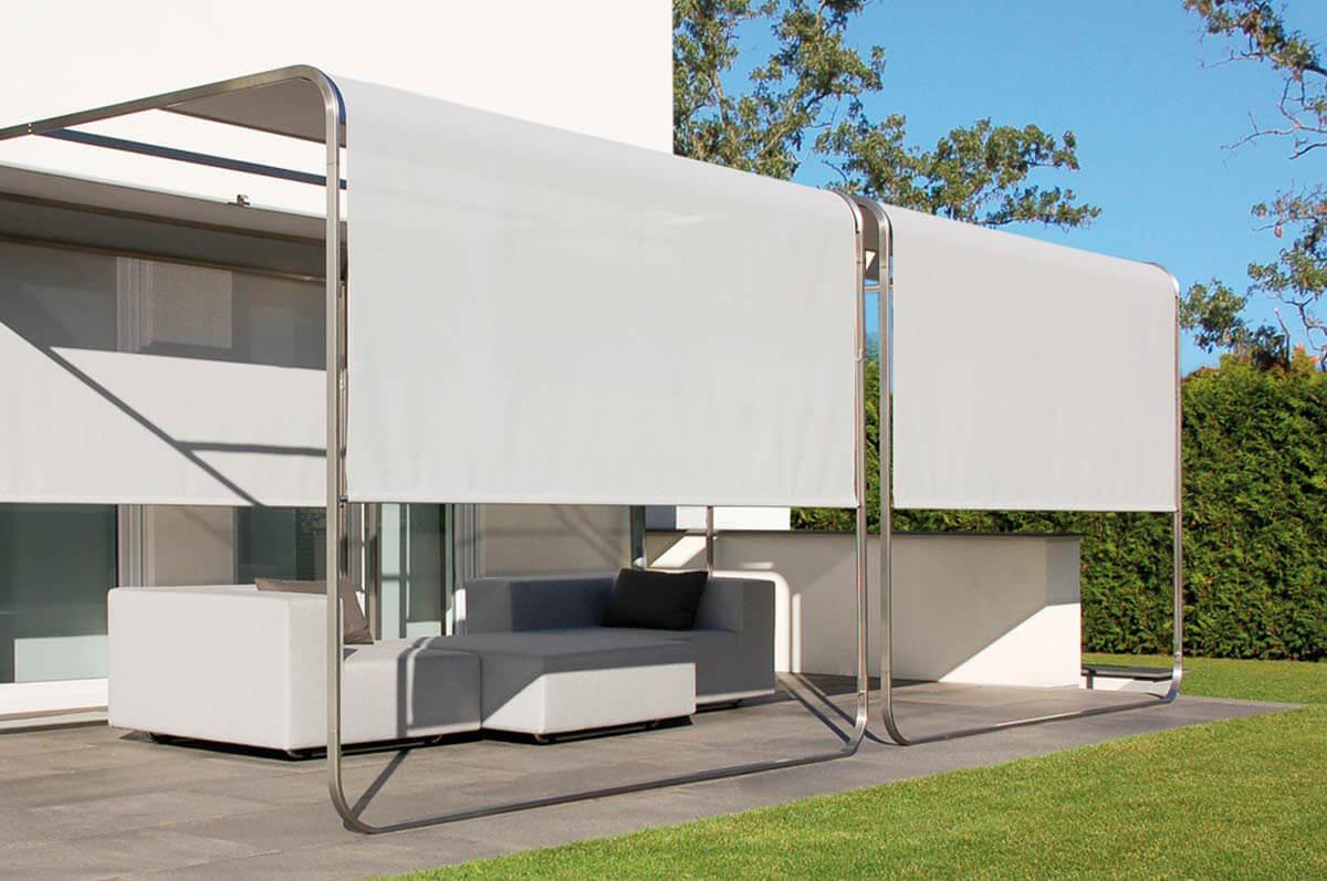 Design Sonnensegel Aufrollbar Sicht Sonnenschutz Fur Balkon Terrasse